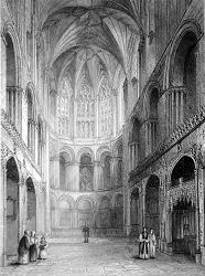 ANTIQUE PRINT: NORWICH CATHEDRAL. EAST END OF THE CHOIR.
