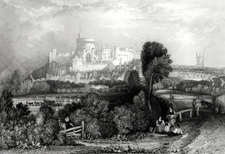 ANTIQUE PRINT: WINDSOR CASTLE.