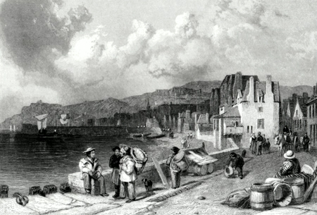 Antique print of the Channel Islands