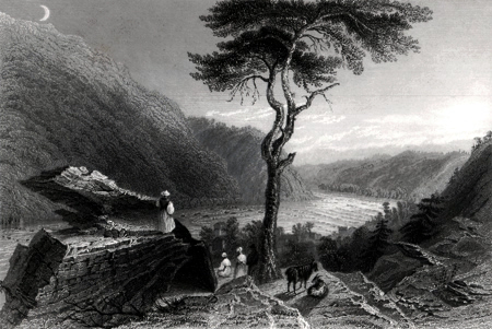 ANTIQUE PRINT: THE VALLEY OF THE SHENANDOAH, FROM JEFFERSONS ROCK. (HARPER'S FERRY).