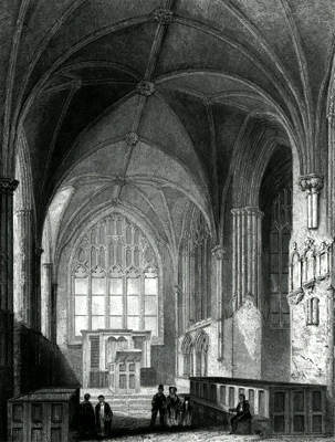 ANTIQUE PRINT: CHESTER CATHEDRAL. THE LADY CHAPEL.