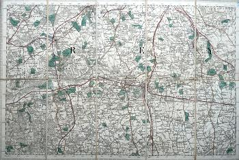 ORDNANCE SURVEY : [REIGATE, REDHILL, DORKING, ETC].