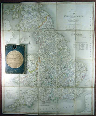 ANTIQUE MAP: CARY'S REDUCTION OF HIS LARGE MAP OF ENGLAND AND WALES. WITH PART OF SCOTLAND ...