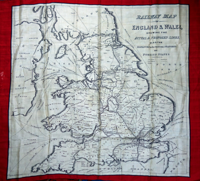 ANTIQUE MAP: RAILWAY MAP OF ENGLAND & WALES, SHEWING THE ACTUAL & PROPOSED LINES, ALSO THE DISTANCES TO THE PRINCIPAL SEAPORTS OF FOREIGN STATES.