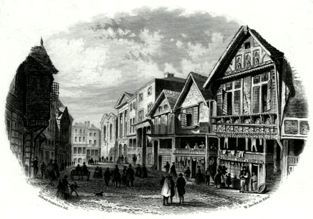 ANTIQUE PRINT: NORTHGATE STREET, CHESTER.