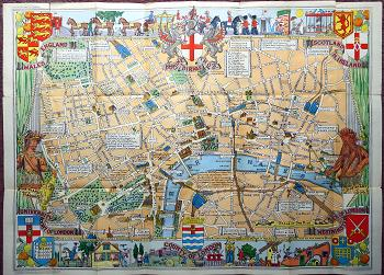 [BULLOCK, Leslie George, 1895-1971] : [COVER TITLE] CHILDREN'S MAP OF LONDON.