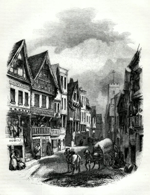 ANTIQUE PRINT: 2. – WATERGATE-STREET, CHESTER.