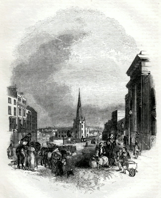 ANTIQUE PRINT: 1. – THE BULL-RING [BIRMINGHAM].