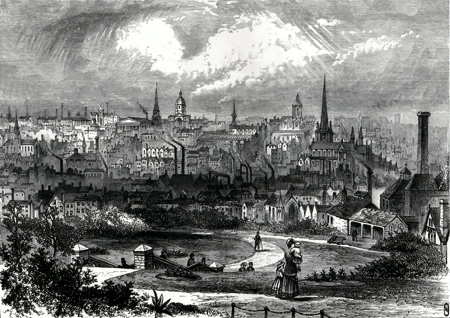ANTIQUE PRINT: BIRMINGHAM.