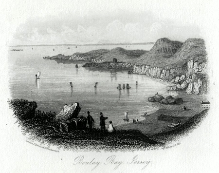 ANTIQUE PRINT: BOULAY [BOULEY] BAY, JERSEY.