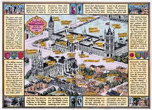 ANTIQUE MAP: A PROSPECT OF WESTMINSTER AS IT APPEARS TODAY ...