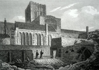 ANTIQUE PRINT: CHESTER CATHEDRAL.