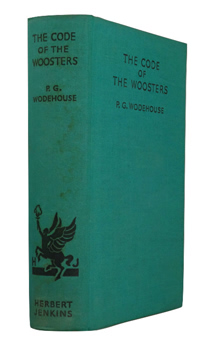 WODEHOUSE, P.G. (Sir Pelham Grenville), 1881-1975 : THE CODE OF THE WOOSTERS.