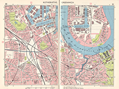 BARTHOLOMEW & SON, John – publishers : CENTRAL LONDON ATLAS-GUIDE.