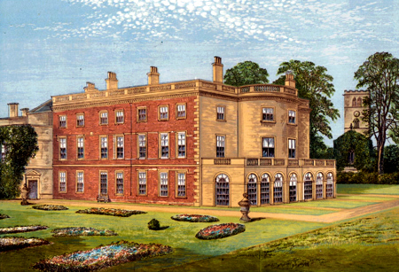 ANTIQUE PRINT: CLIFTON HALL.