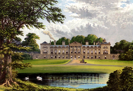 ANTIQUE PRINT: WOBURN ABBEY.