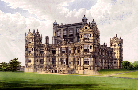 ANTIQUE PRINT: WOLLATON HALL.