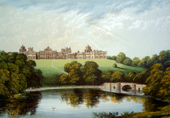 ANTIQUE PRINT: BLENHEIM.