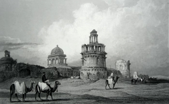ANTIQUE PRINT: RUINS, – OLD DELHI.
