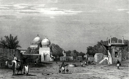Antique print of Bijapur, India