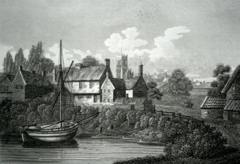 ANTIQUE PRINT: WOODBRIDGE, SUFFOLK.