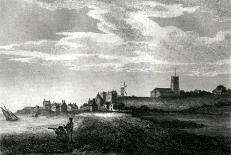 ANTIQUE PRINT: ALDBOROUGH [ALDEBURGH] SUFFOLK.