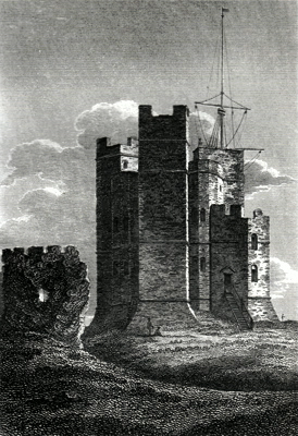 ANTIQUE PRINT: ORFORD CASTLE, SUFFOLK.
