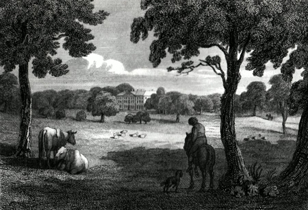 ANTIQUE PRINT: BENACRE HALL, SUFFOLK.