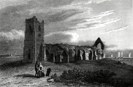 ANTIQUE PRINT: DUNWICH CHURCH, SUFFOLK.