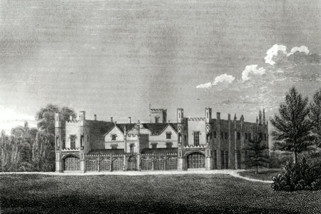 ANTIQUE PRINT: RENDLESHAM HOUSE, NEAR WOODBRIDGE, SUFFOLK. THE SEAT OF LORD RENDLESHAM.
