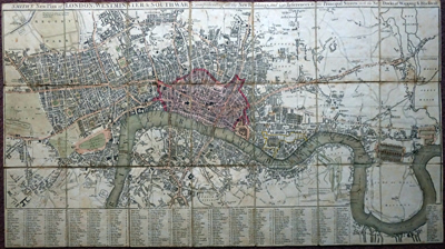 SMITH, Charles, 1768?-1854 : SMITH'S NEW PLAN OF LONDON, WESTMINSTER & SOUTHWARK; COMPREHENDING ALL THE NEW BUILDINGS, AND 350 REFERENCES TO THE PRINCIPAL STREETS WITH THE NEW DOCKS AT WAPPING & BLACKWALL.