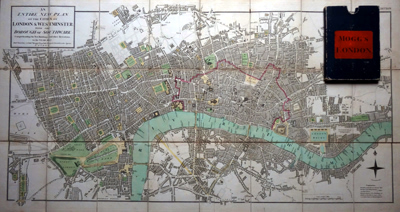 MOGG, Edward, 1769-1851 : AN ENTIRE NEW PLAN OF THE CITIES OF LONDON & WESTMINSTER; WITH THE BOROUGH OF SOUTHWARK: COMPREHENDING THE NEW BUILDINGS AND OTHER ALTERATIONS, TO THE YEAR 1807.