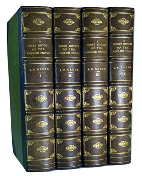GREEN, J.R. (John Richard), 1837-1883 : A SHORT HISTORY OF THE ENGLISH PEOPLE.