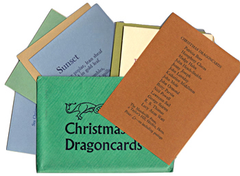 THOMAS, R.S. (Ronald Stuart), 1913-2000 & OTHERS : CHRISTMAS DRAGONCARDS.