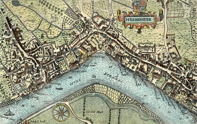 ANTIQUE MAP: WESMINSTER [sic].