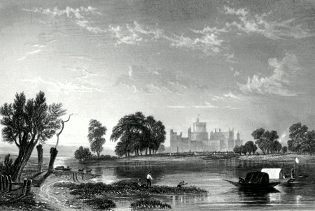 ANTIQUE PRINT: WINDSOR.