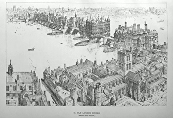 BREWER, H.W. (Henry William), 1836-1903 : OLD LONDON ILLUSTRATED. A SERIES OF DRAWINGS BY THE LATE H. W. BREWER ILLUSTRATING LONDON IN THE XVITH CENTURY.