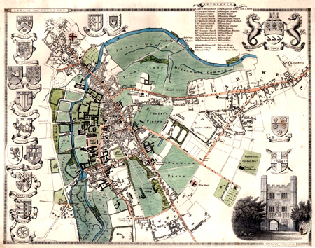 [MOULE, Thomas, 1784-1851] : UNIVERSITY AND TOWN OF CAMBRIDGE.