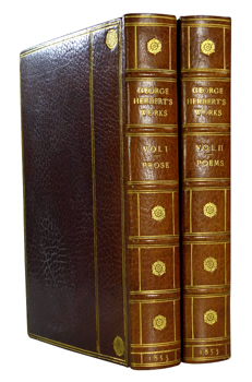 HERBERT, George, 1593-1633 : THE WORKS OF GEORGE HERBERT IN PROSE AND VERSE.