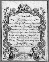 BRITISH MAP ENGRAVERS : Trade-card of Sutton Nicholls. © Trustees of the British Museum.